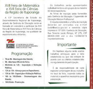 Cartaz XVII FEMACRI (2)